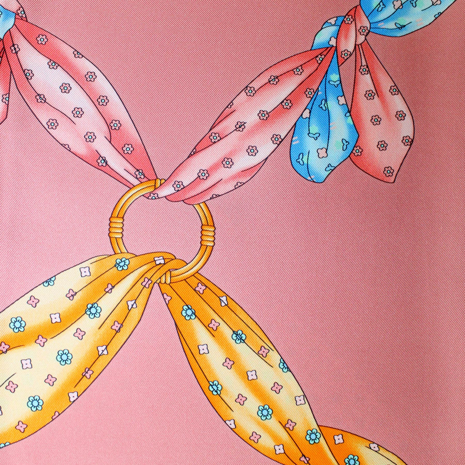 New Marinella Scarf Classic Pink Design