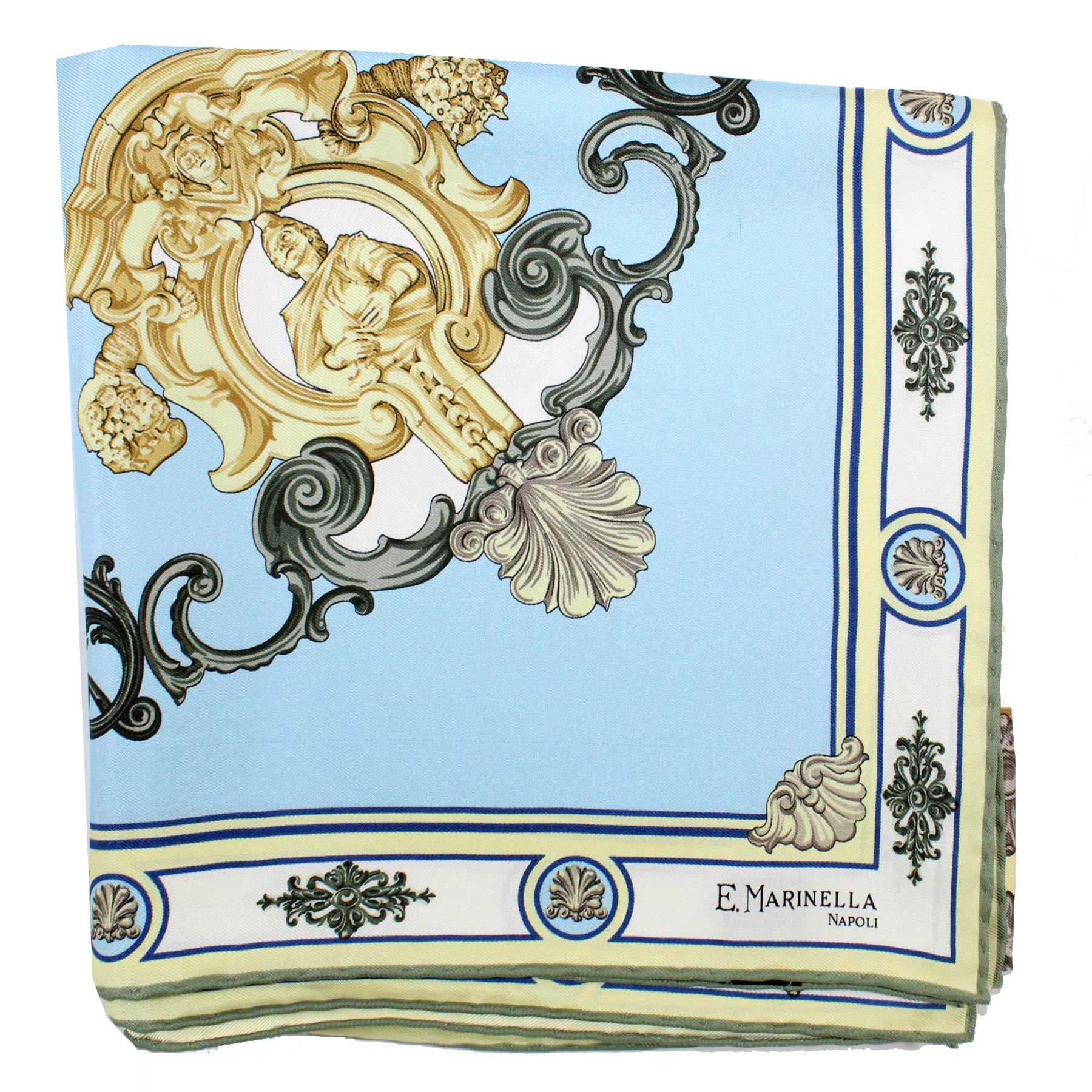 E. Marinella Scarf Blue Baroque