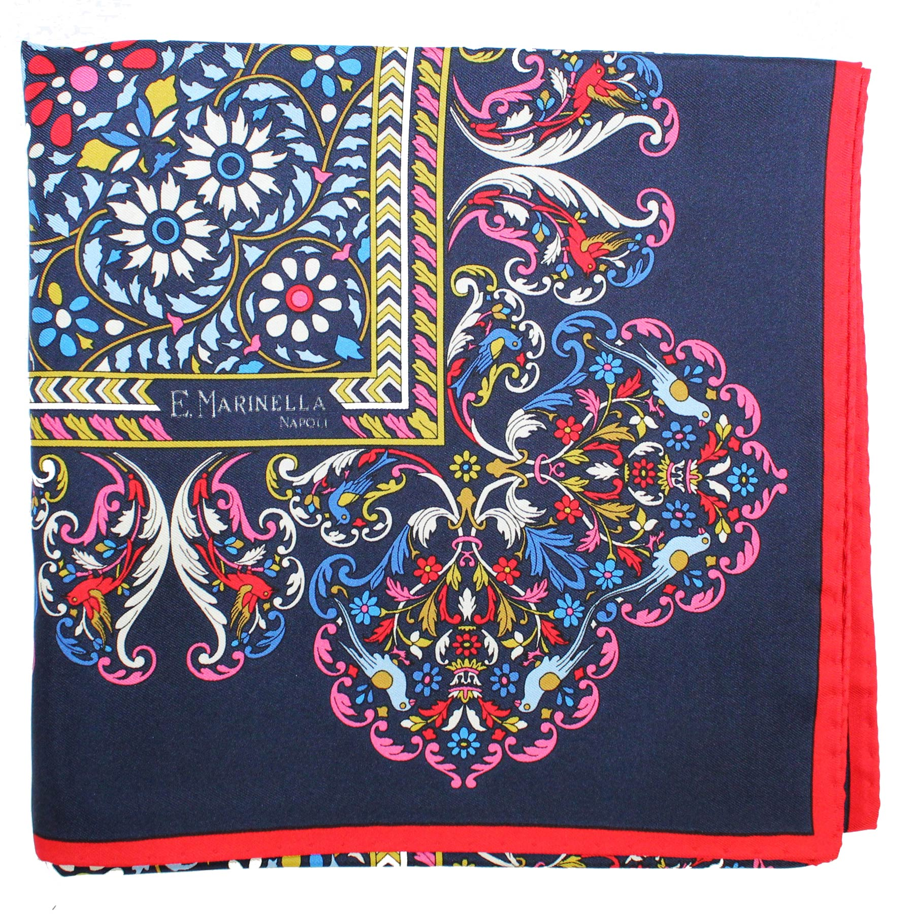 Marinella Scarf Navy Red Blue