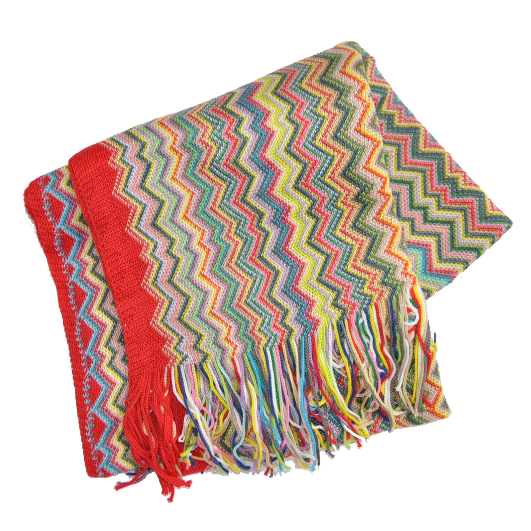 Missoni Scarf Chevron Design Cotton Shawl