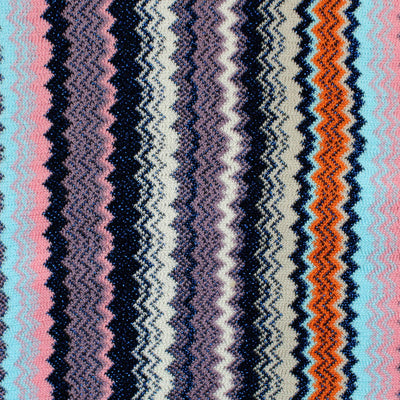 Missoni Scarf Sky Blue Pink Chevron Design Women Designer Shawl SALE