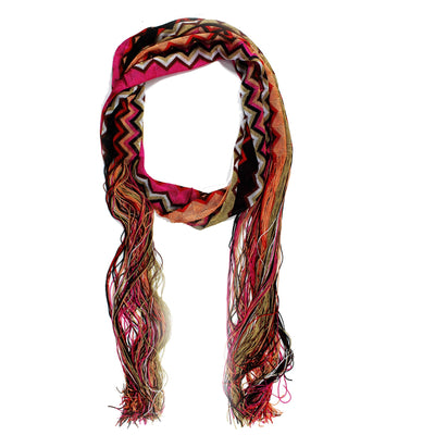 40e25d6db7949 Missoni Scarf Pink Red Cream Zigzag Chevron Women Designer Shawl ...