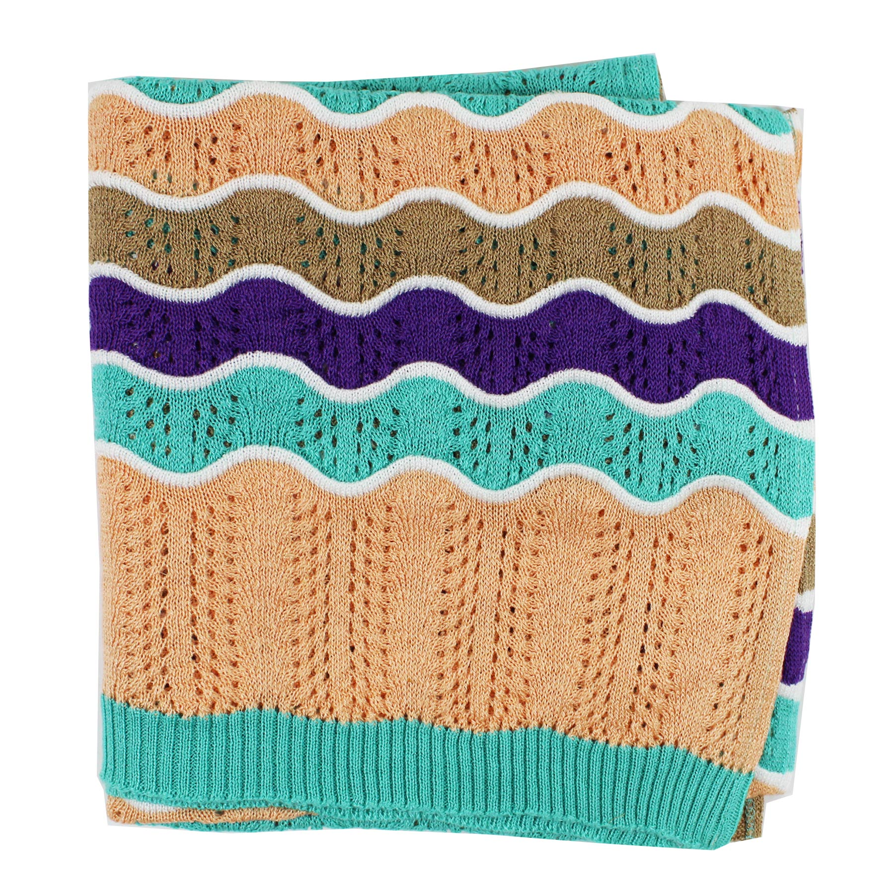 Missoni Scarf Taupe Aqua Purple