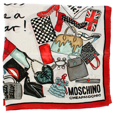 Moschino Scarf Dress Like A Star Silk Square Scarf