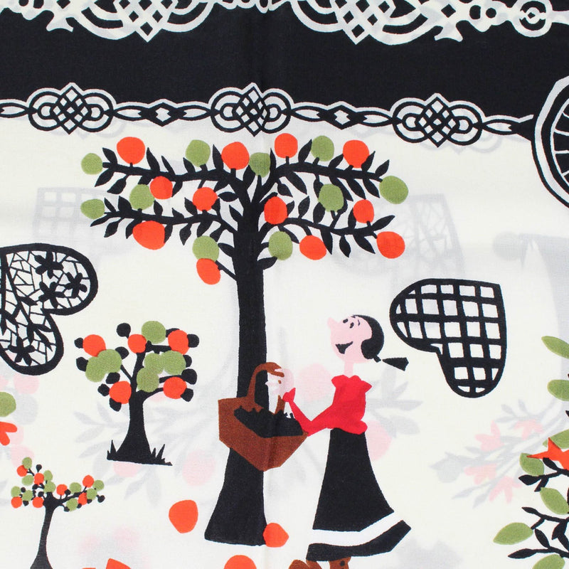 Moschino Scarf Olive Oyl Picking Fruit
