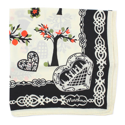 Moschino Scarf Olive Oyl Picking Fruit - Small Square Scarf