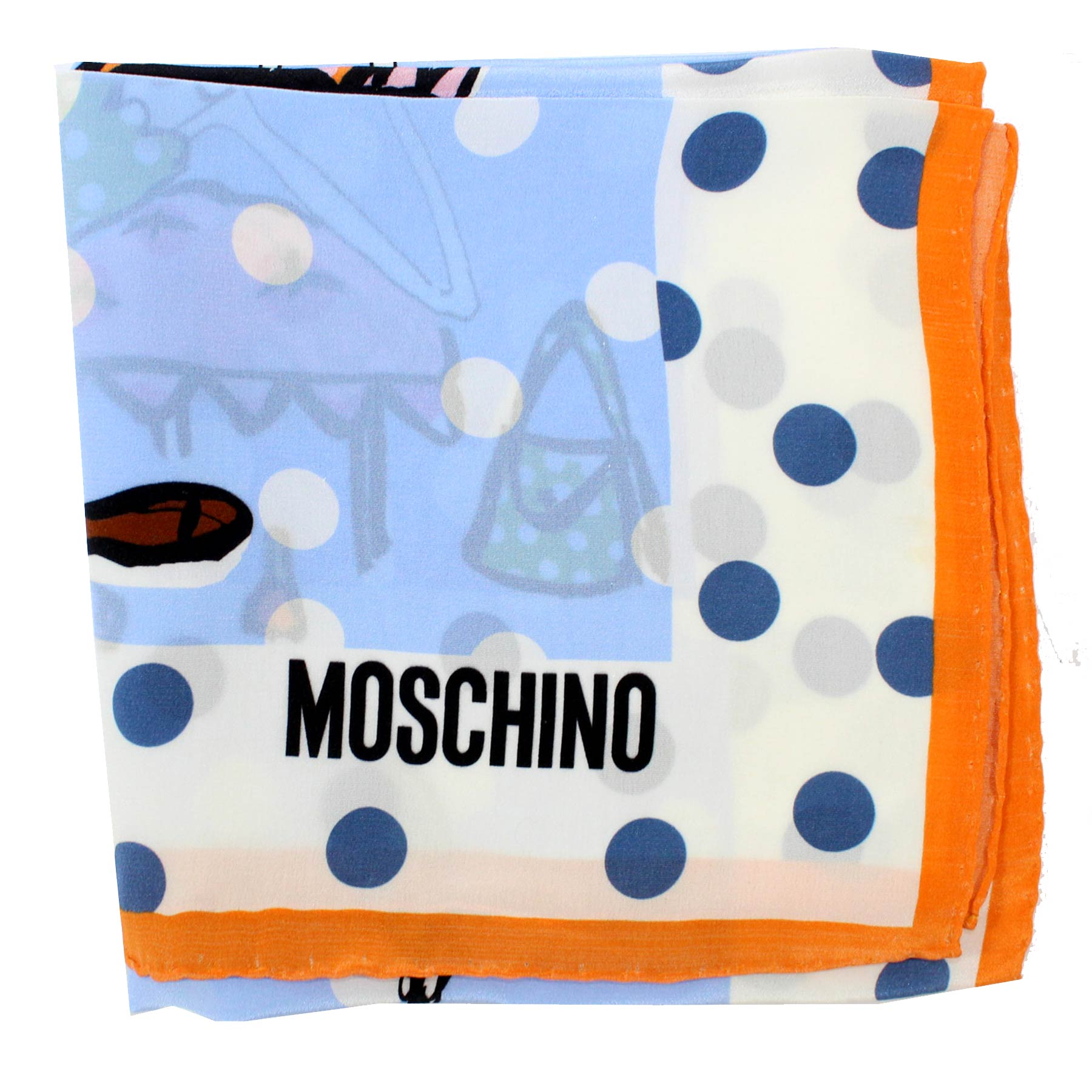Moschino Scarf Olive Oil & Polka Dots