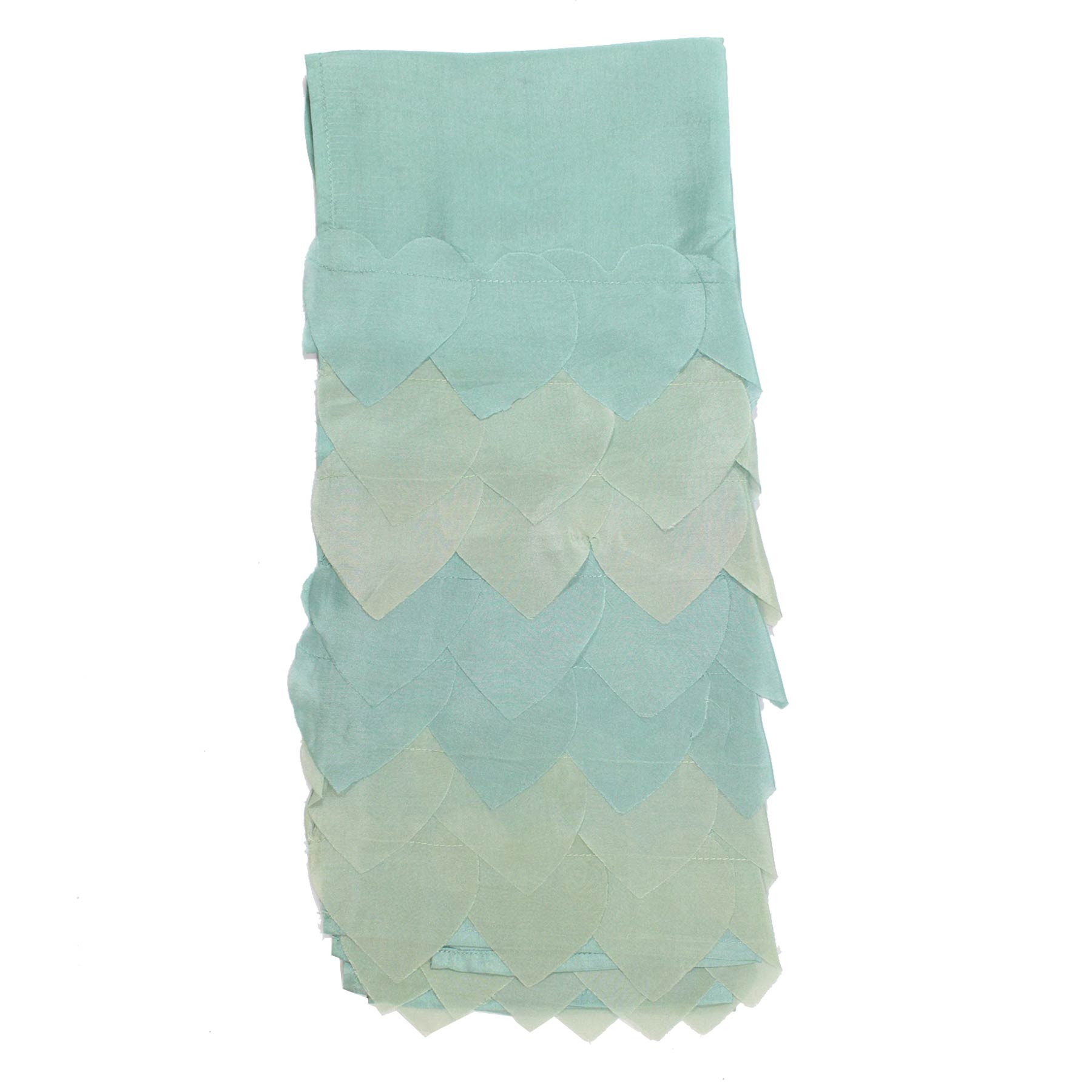 Moschino Silk Scarf Mint Green Seafoam Layered Design