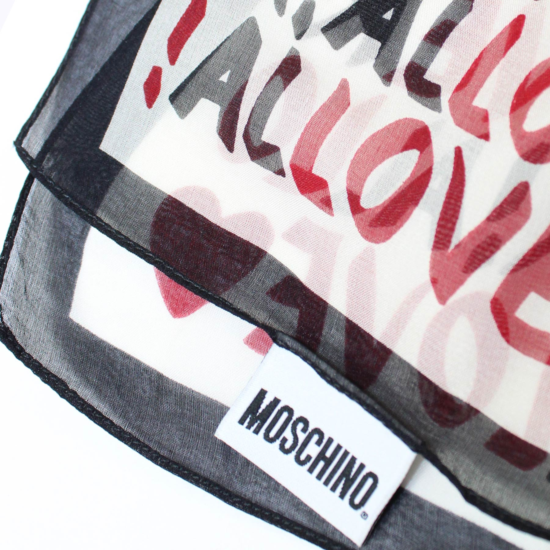 Moschino Silk Scarf AlLOVEer - Chiffon Silk Shawl