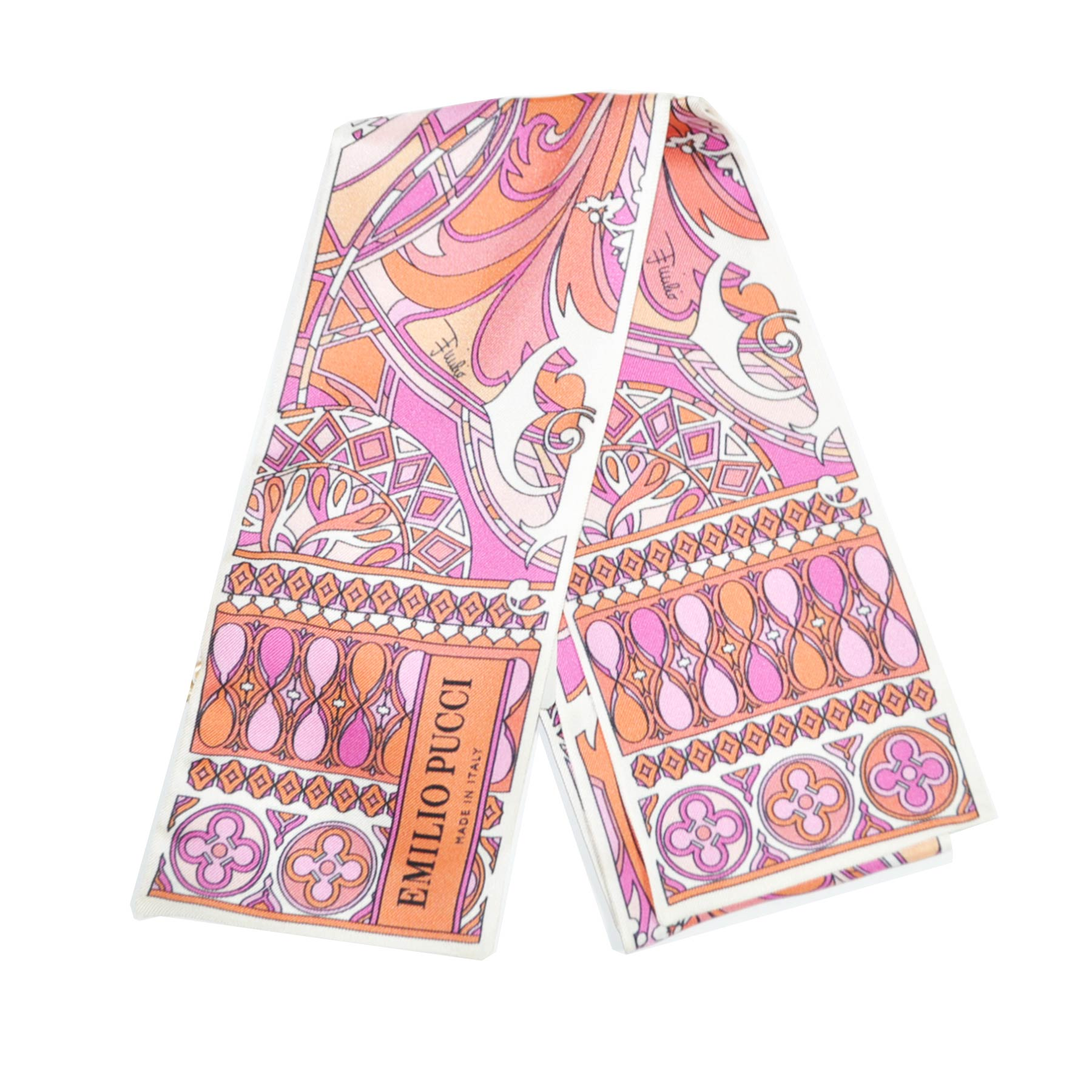 Pucci Small Scarf Pink Signature Design Headband