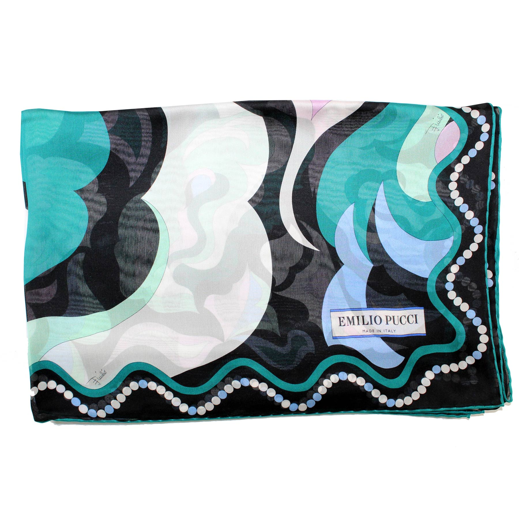 Pucci Scarf Signature Green Black Blue