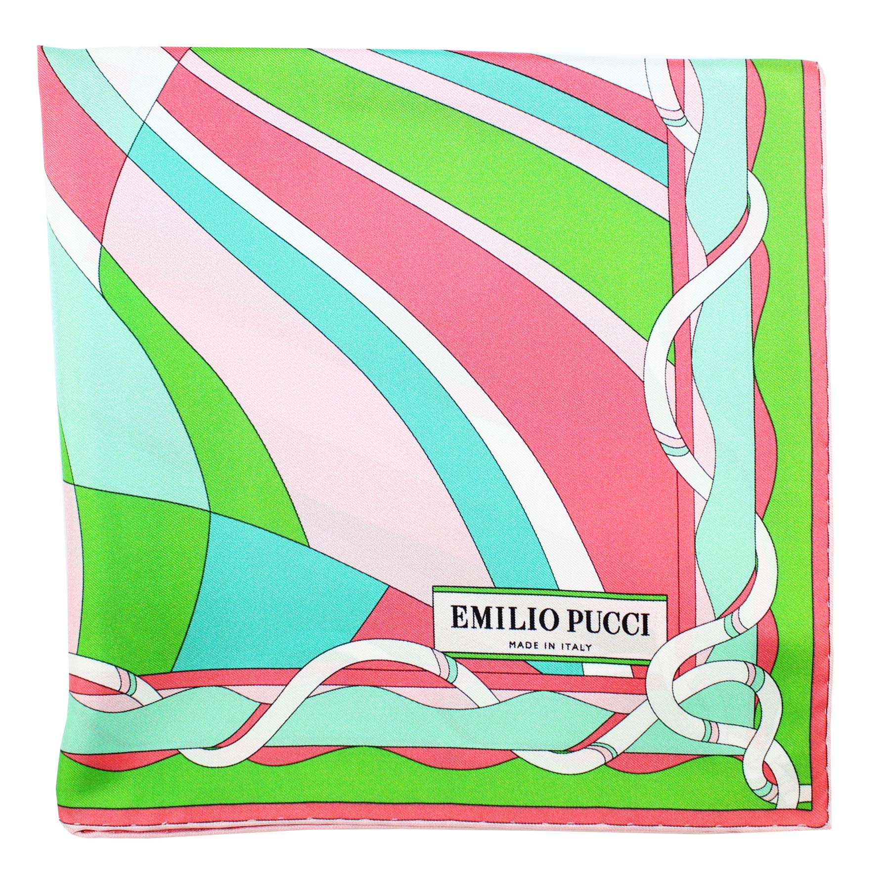 Pucci Scarf Lime Pink Swirl
