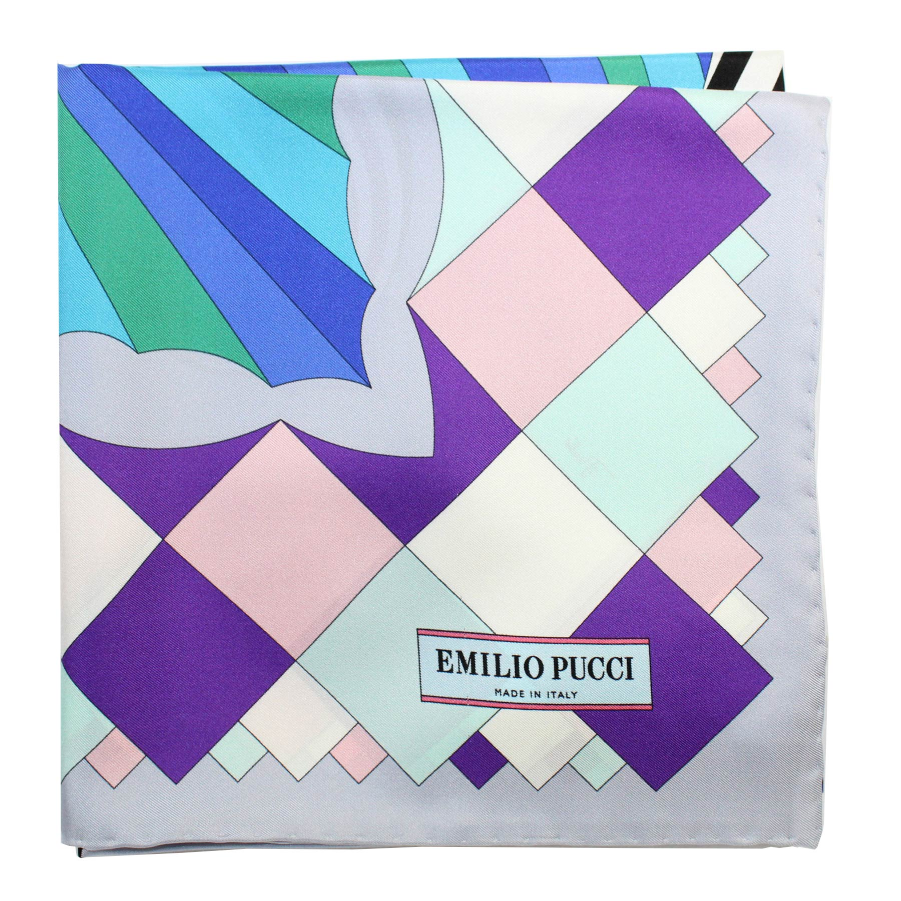Pucci Scarf Gray Purple Pink Sky Blue