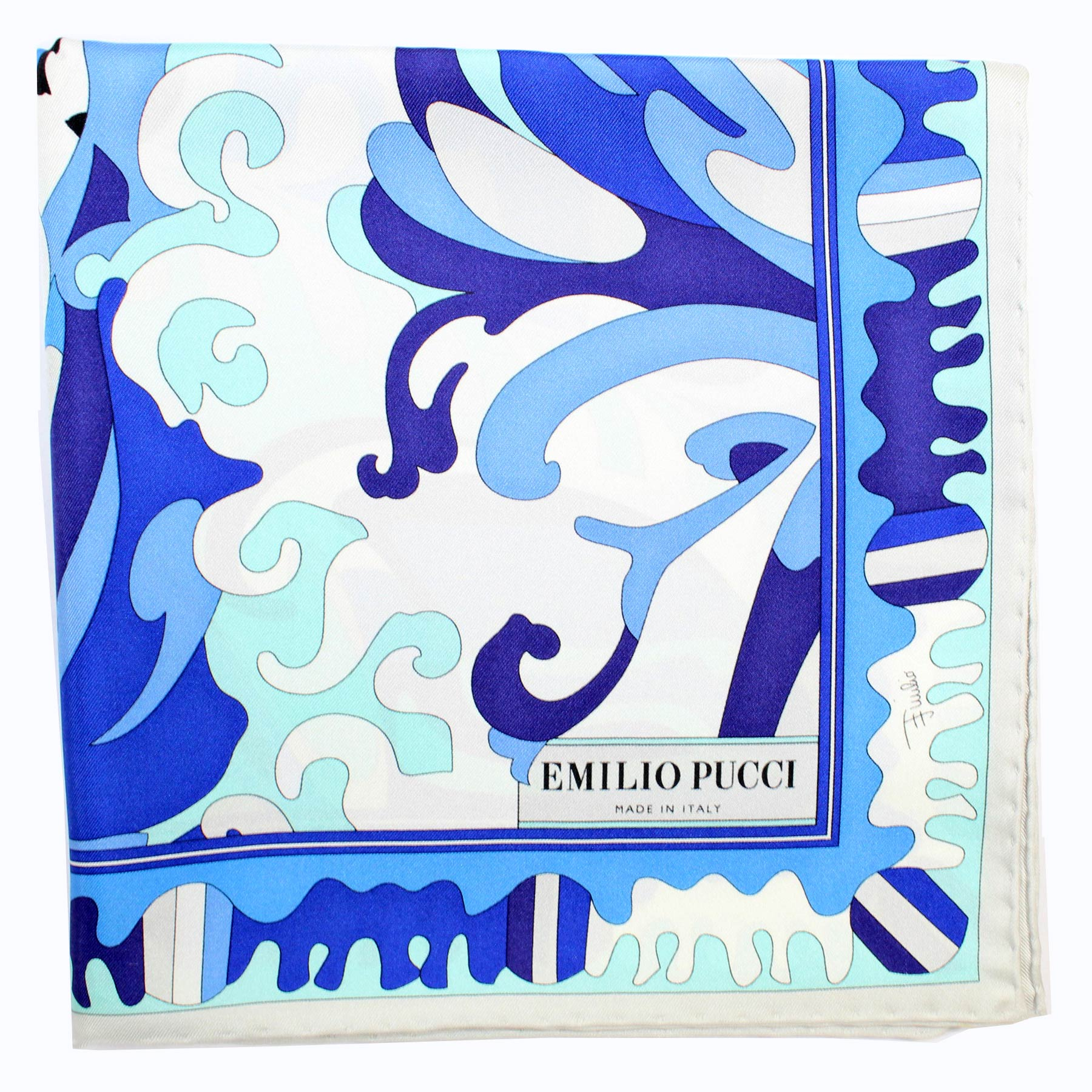 Pucci Scarf Royal Blue Design