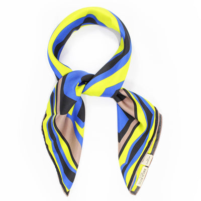 Emilio Pucci Scarf Brown Lime Design