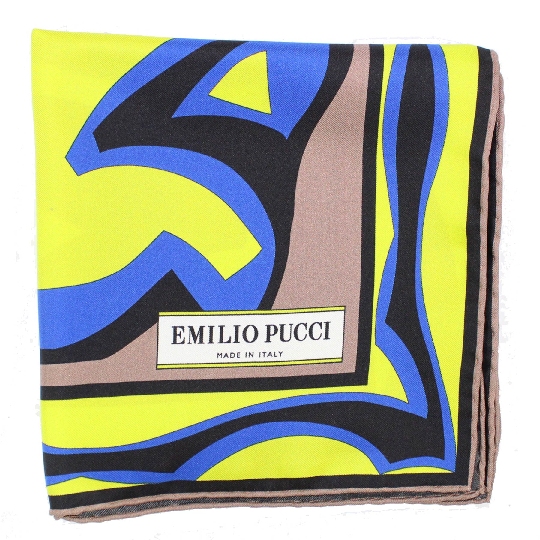 Pucci Scarf Brown Lime Royal Blue