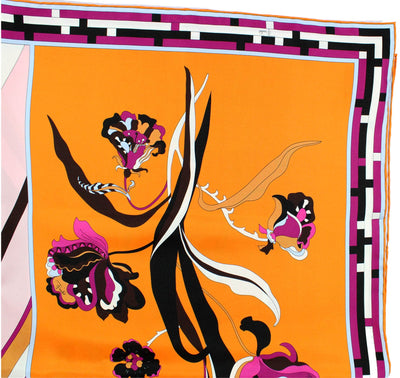 Products Emilio Pucci Scarf Fuchsia Orange Scarf