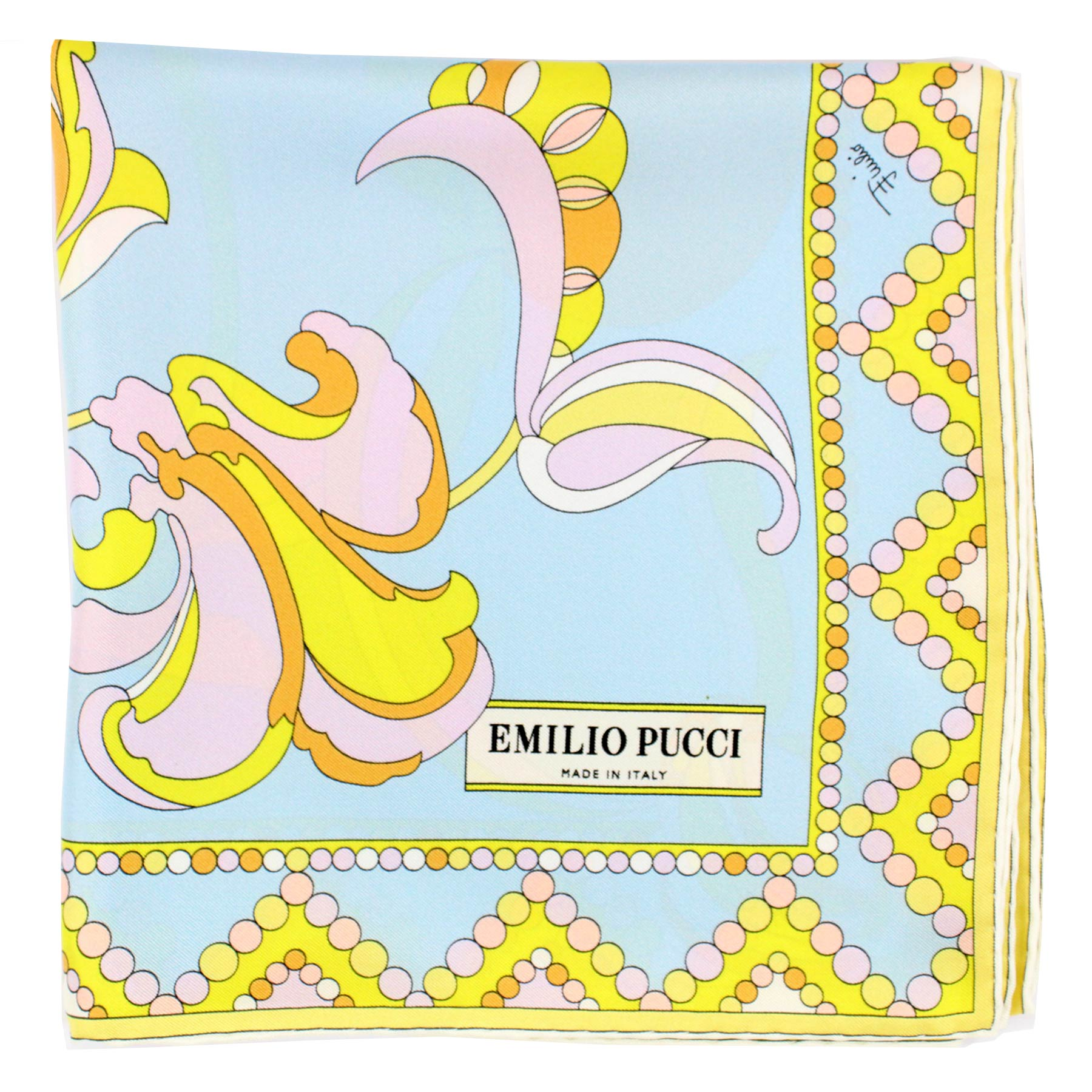 Pucci Scarf Lime Pink Powder Blue Signature