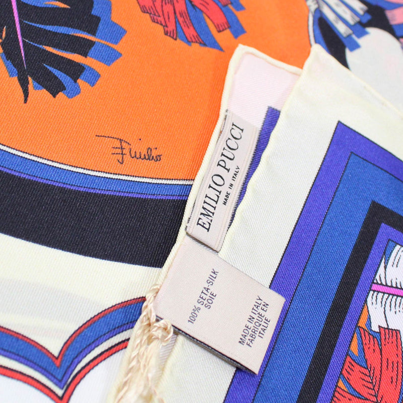 Emilio Pucci Scarf Royal Blue The Raleigh Design - Twill Silk Square Scarf