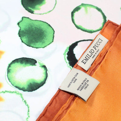 Emilio Pucci Scarf White Orange Green