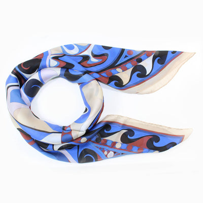 Emilio Pucci Scarf Royal Blue Brown