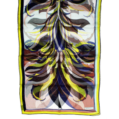 Emilio Pucci Scarf Brown Lime New