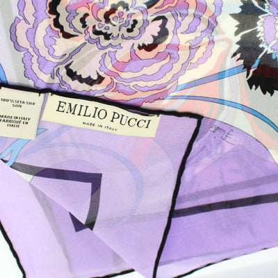 Pucci Scarf Lilac Floral Design