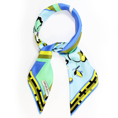 Pucci Scarf Blue Lime Olive