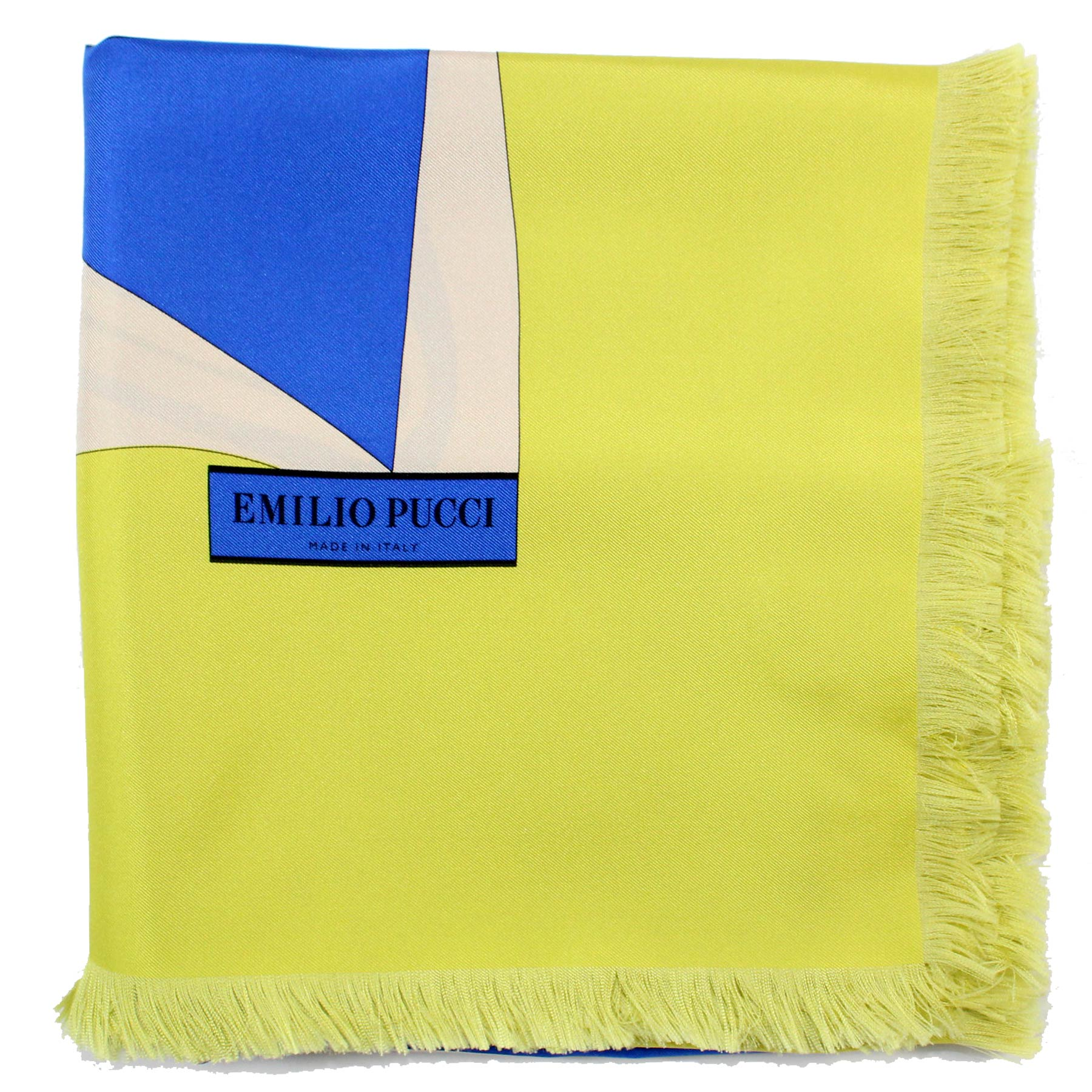 Emilio Pucci Scarf Royal Blue Lime