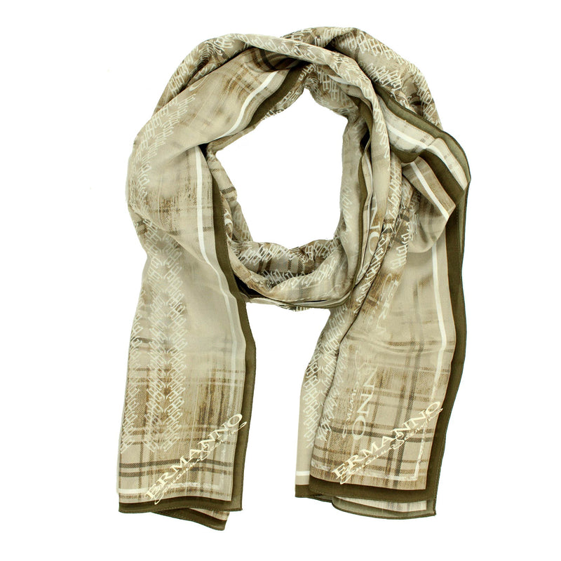 Ermanno Scervino Scarf Cream Taupe-Brown