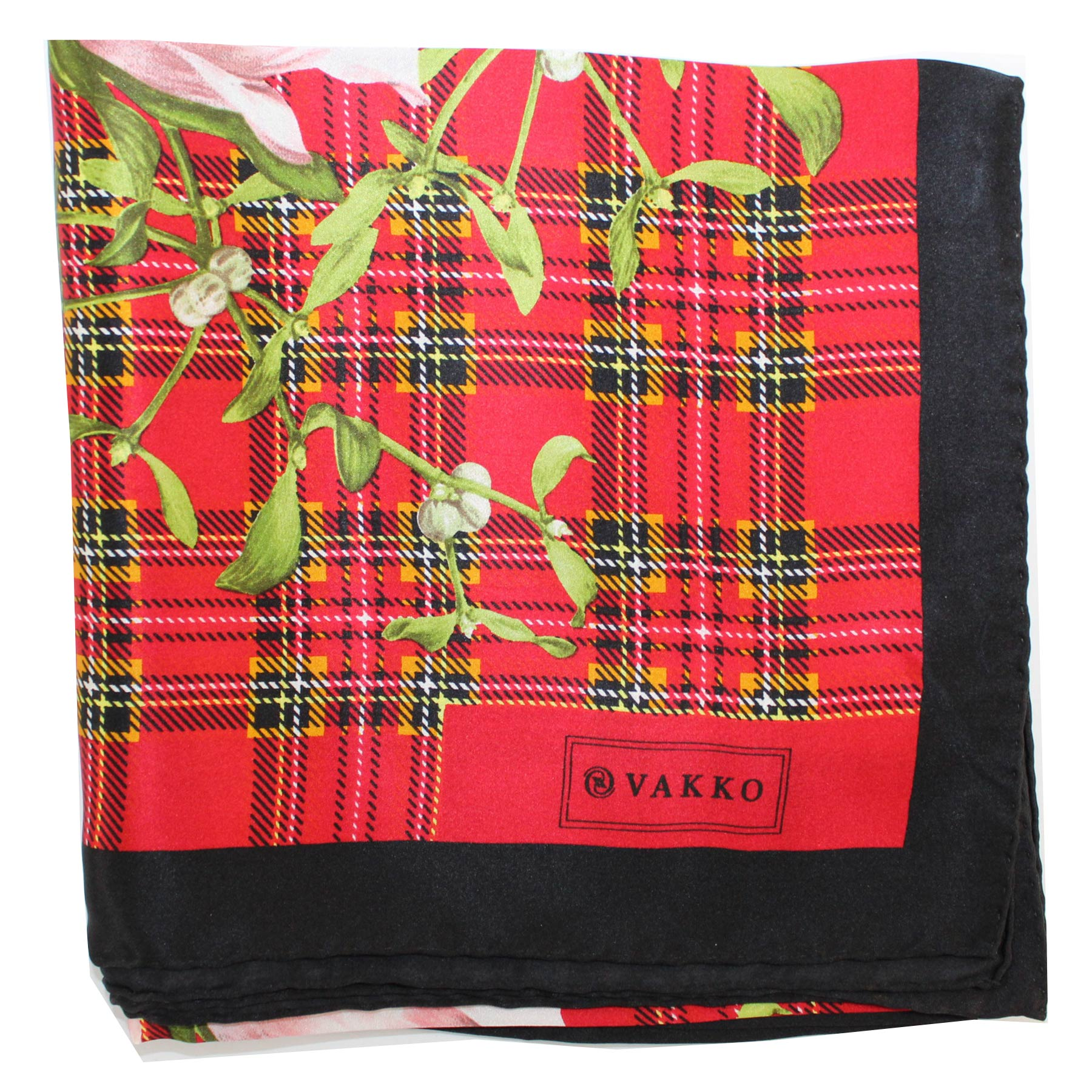 Vakko Scarf Red Green New