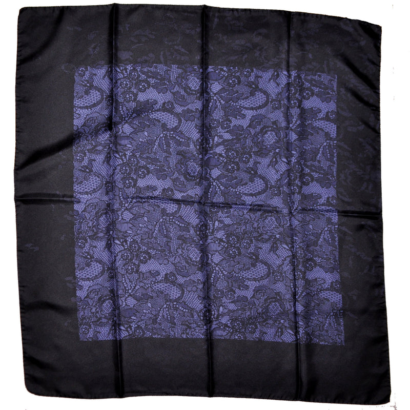 Valentino Scarf Black Purple Floral