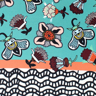 Valentino Scarf Whimsical Floral & Bees