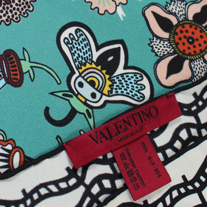 Valentino Scarf Whimsical Floral & Bees Valentino