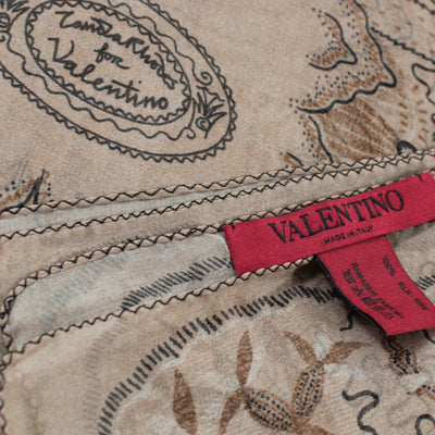 Valentino Scarf Light Brown Garden Design - Extra Large