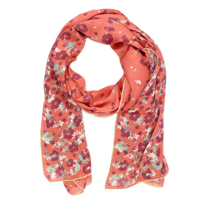 Valentino Scarf Dust Pink Mint Floral