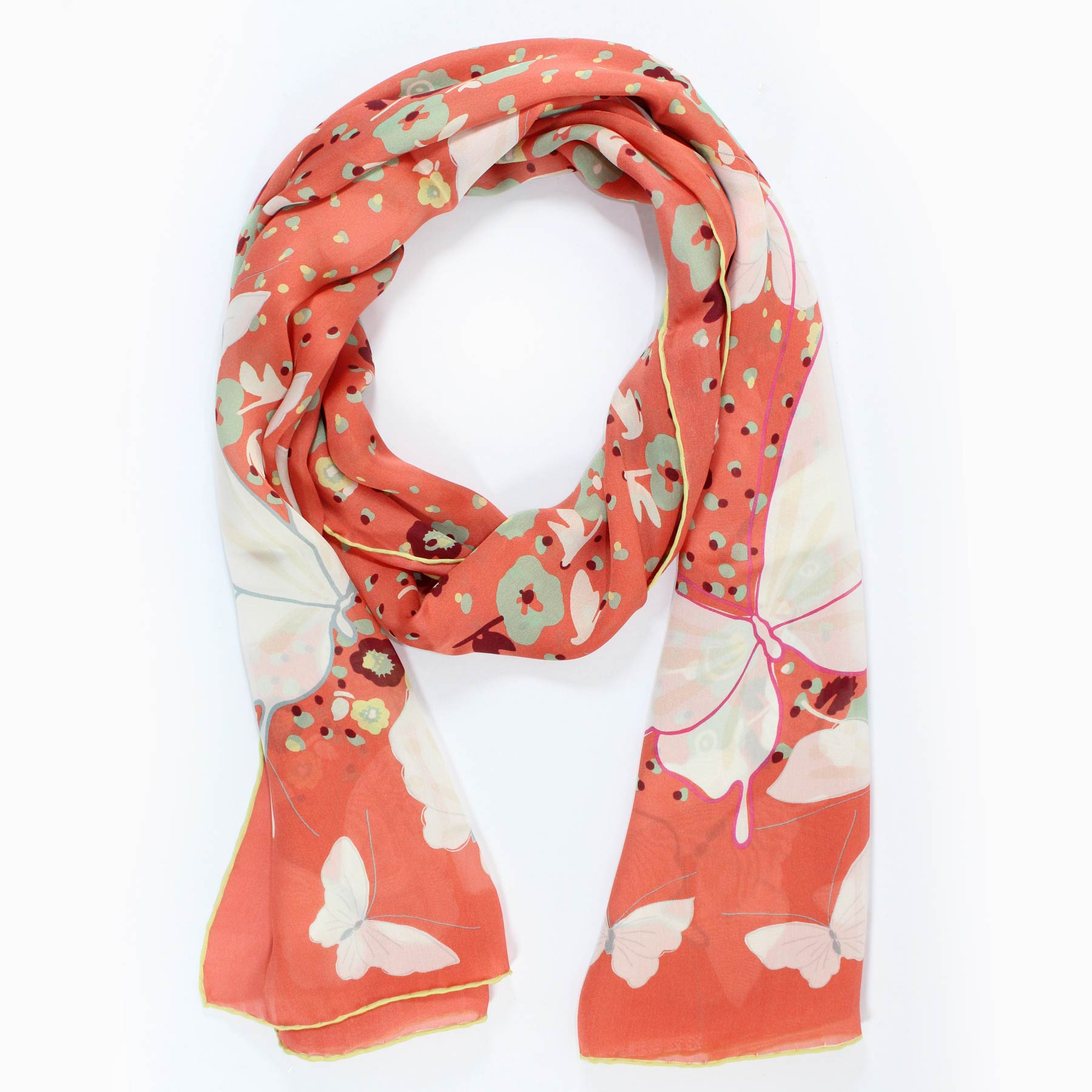 Valentino Scarf Pink Butterfly