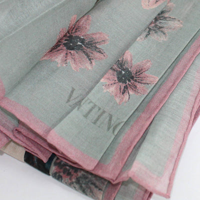 Valentino Scarf Dust Pink Gray