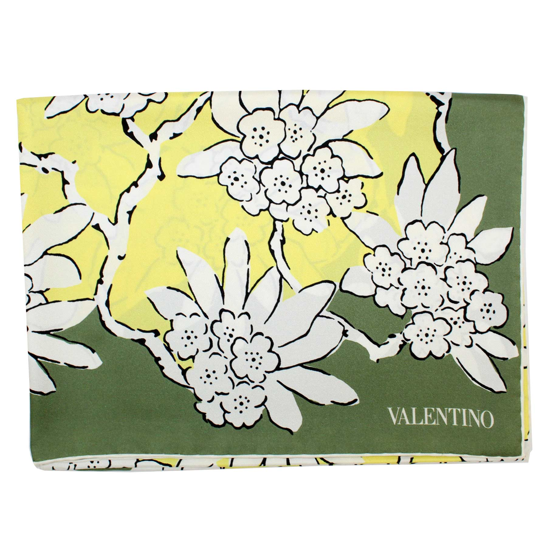 Valentino Scarf Yellow Green