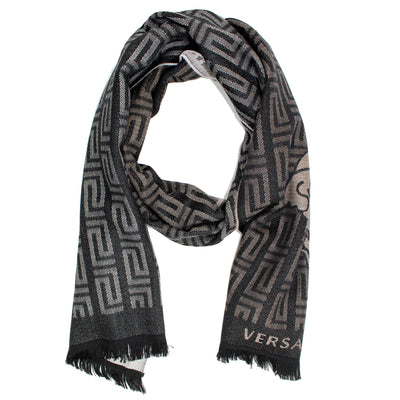 Versace Scarf Black Gray