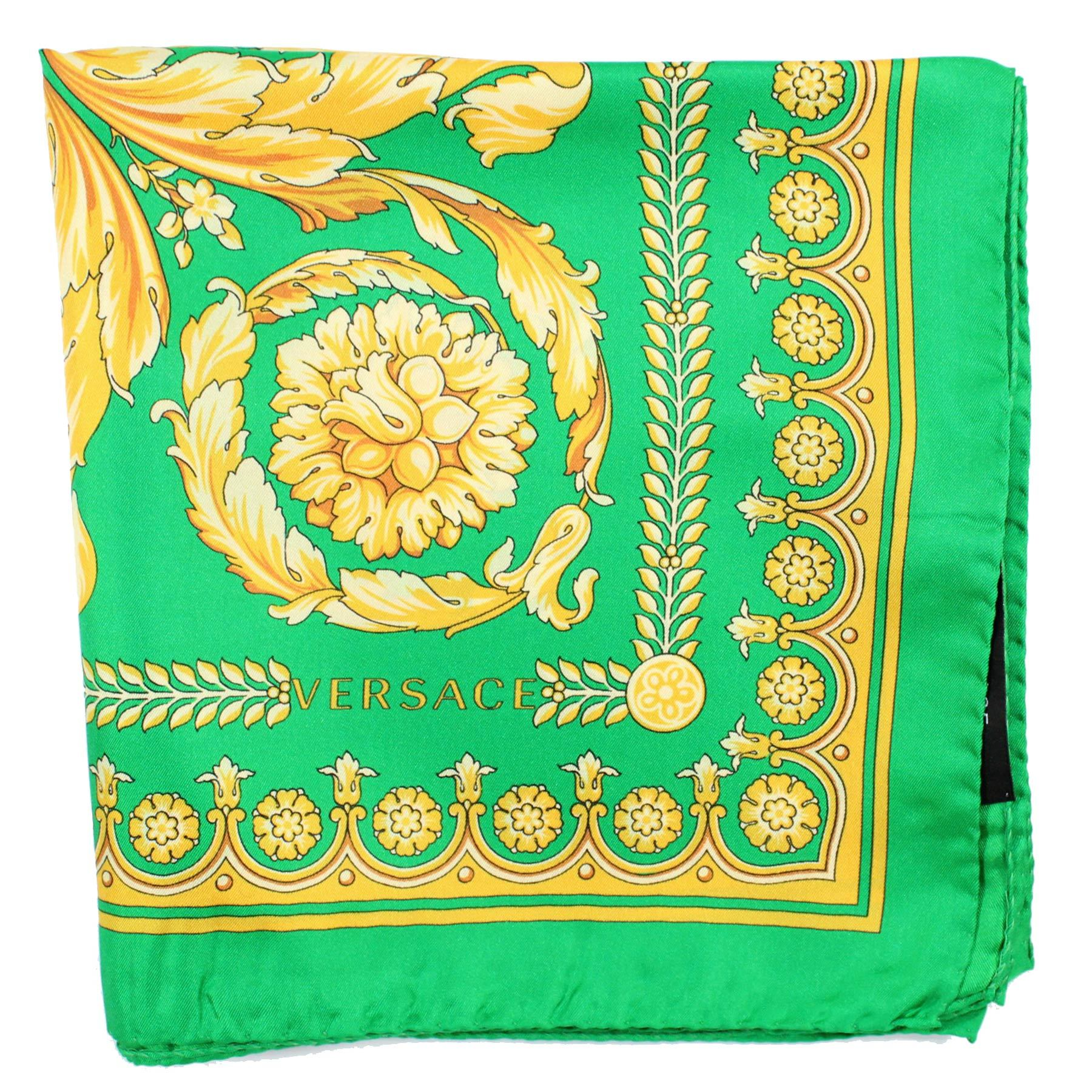 Versace green gold scarf