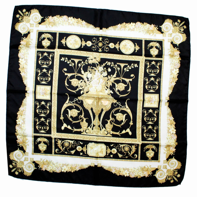 Black Gold Scarf Versace New
