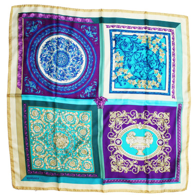 Versace Scarf Four Baroques - Large Twill Silk Square Scarf