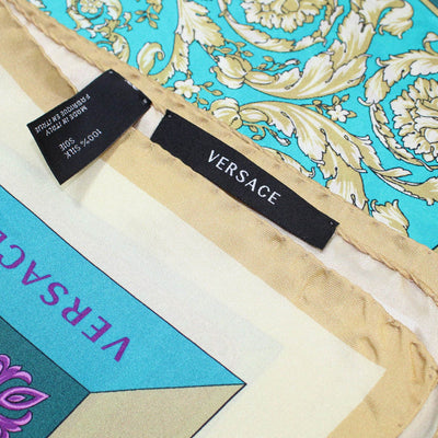 Versace Scarf Four Baroques - Large Twill Silk Square Scarf SALE