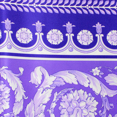 Versace Scarf Purple Baroque - Large Twill Silk Square Scarf