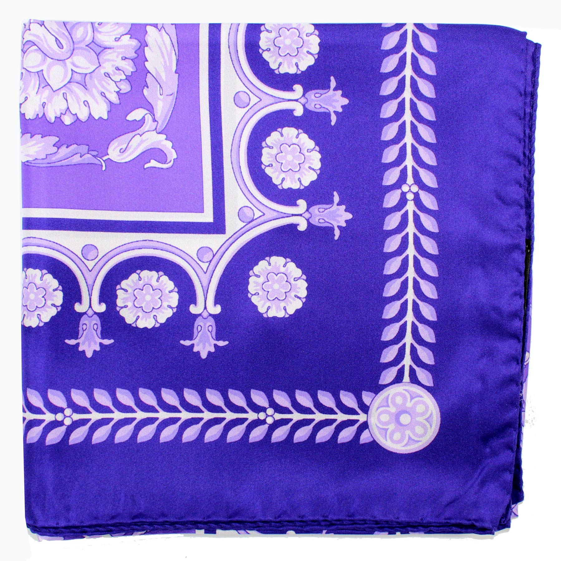 Versace Scarf Purple Baroque - Large Twill Silk Square Scarf SALE