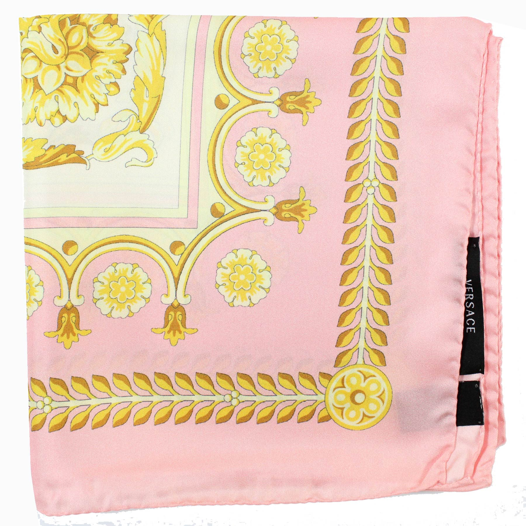 Versace Scarf White Pink Gold