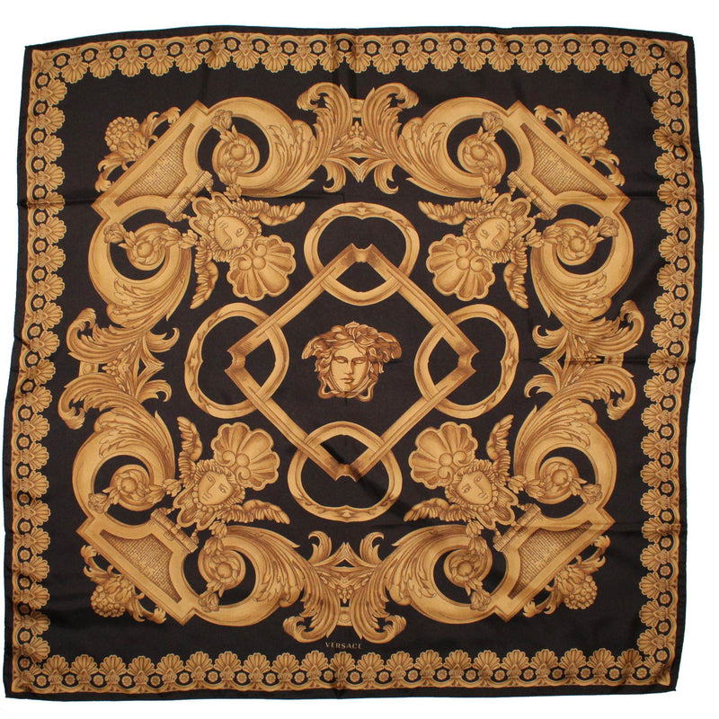 Versace Scarf Brown Medusa & Baroque