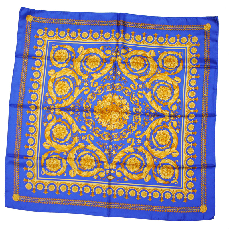 Versace Scarf Royal Blue Gold Baroque