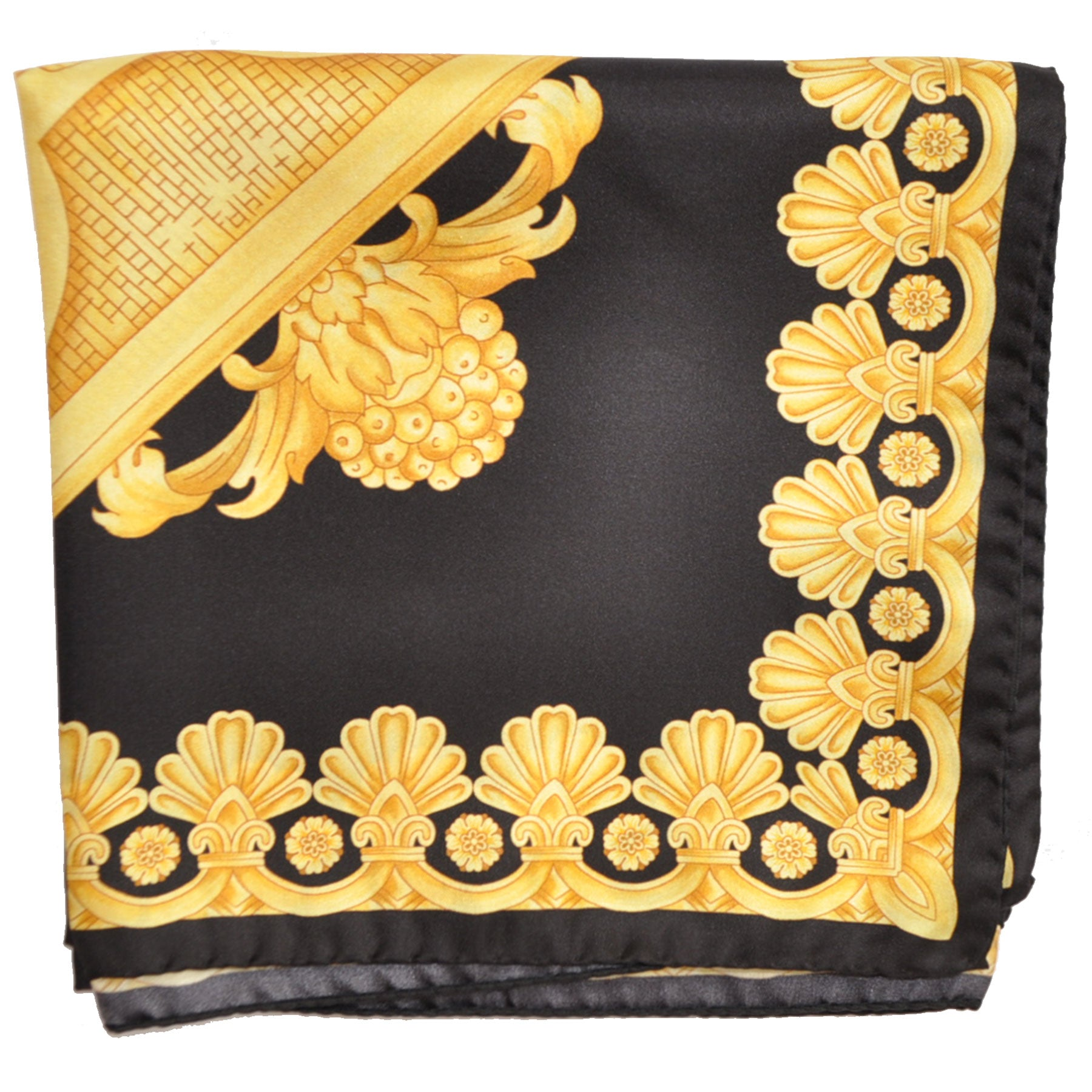 Versace Scarf Black Gold Ornamental